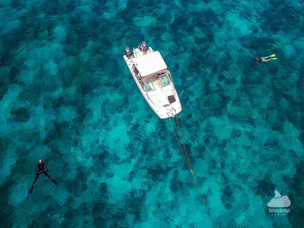 Key Largo Florida Keys reef snorkeling aerial drone photography