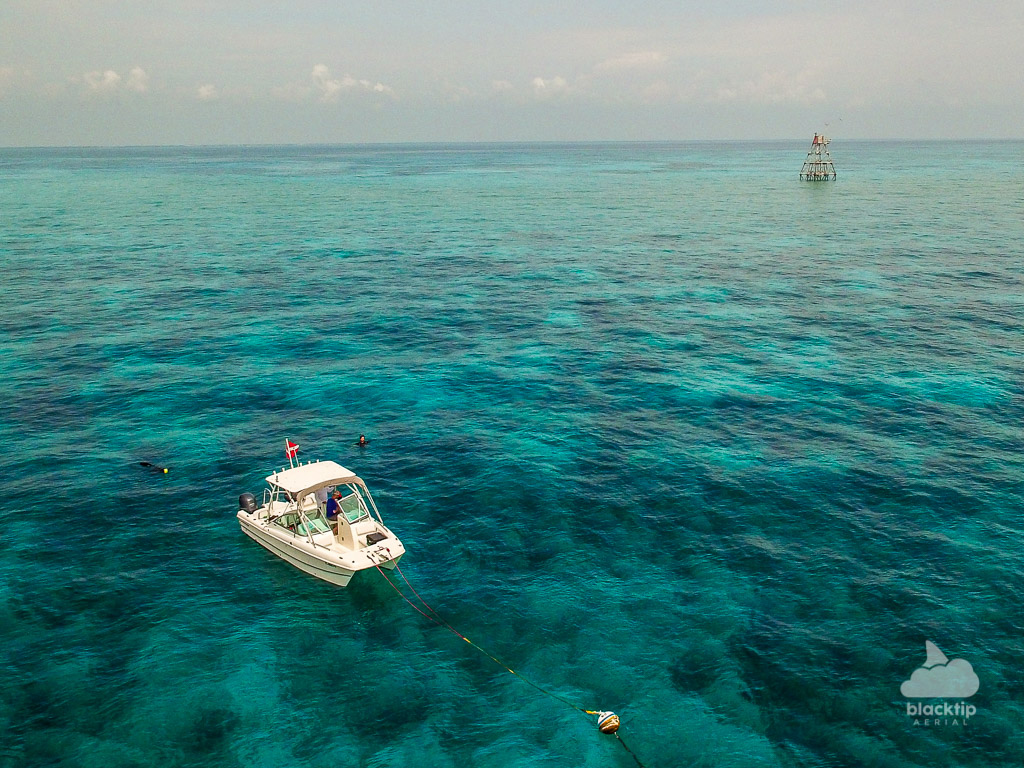 Florida Keys Molasses Reef snorkeling and boat aerial photography and videography
