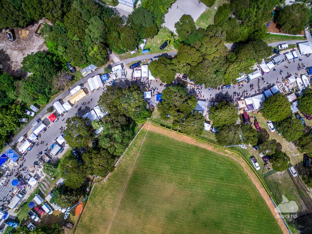 Florida Keys flea market drone photography