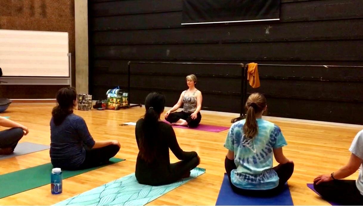 Laura Enslin, Yoga for Singers Class at Hamilton College.