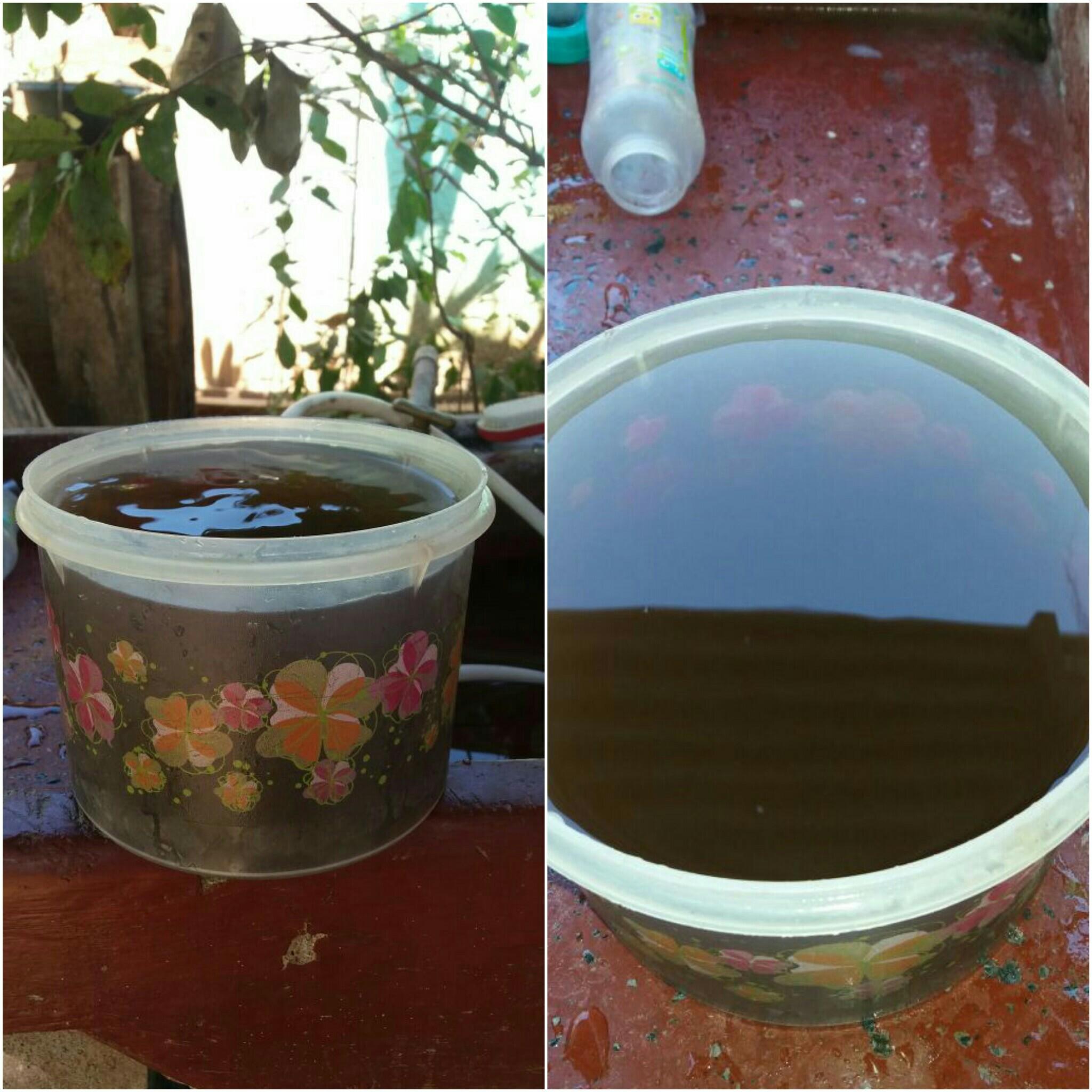 Así salió el agua en los últimos meses del 2016, cuando el pozo que aportaba el líquido a las tuberías se contaminó. (Imagen cortesía de Juliana Corrales)