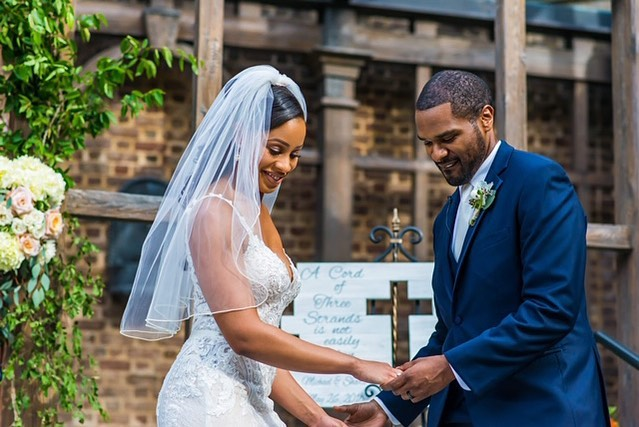 Happy Anniversary to one hot couple!! I can't believe it's been a year already! I wish you all many years of God's blessings! @lavidalakiah @nflmike 📷 @fotosbyfola