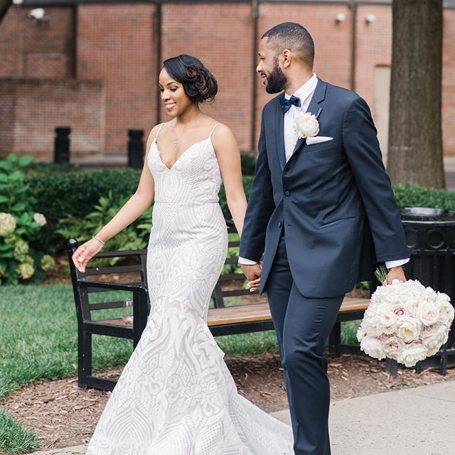 I can't believe it's been a year already! Happy Anniversary to @shariinatlanta and Chris! Wishing you many more years of wedded bliss! 📷 @elizabethaustinphoto