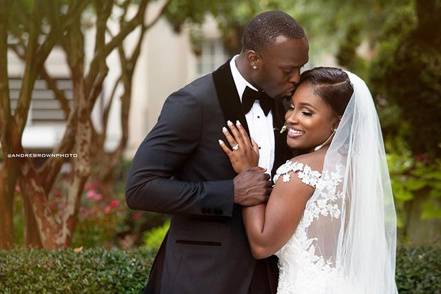 The new Mr. and Mrs. Udofia!  @urfavorite_girl @moo_udofia 📷 @andrebrownphoto