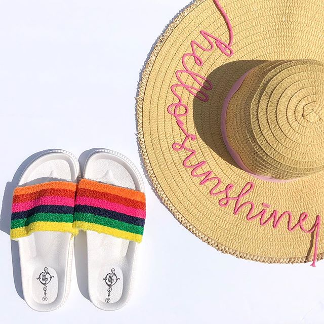 🌈 NEW! RAINBOW SLIDES just added to @thechi_list shop! Just in time for summer! So comfy and fun! #new #summertime #rainbow #addtocart #tclmpls . 🛍 www.thechi-list.com *LIMITED QUANTITIES*