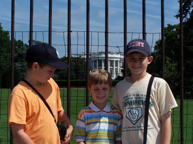 Sam, Ben and Mac go to Washington, summer 2009