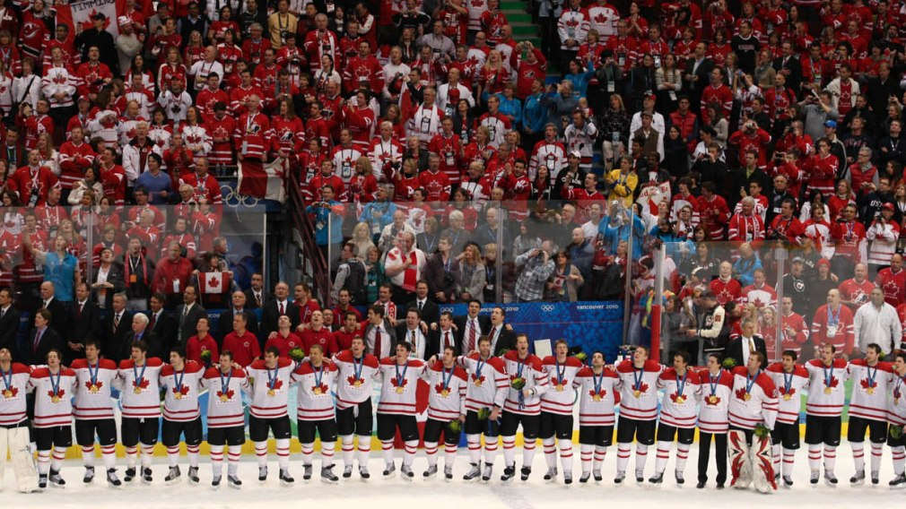 Canada's men's hockey team, 2010 Winter Olympics (Photo:  Olympic.ca )
