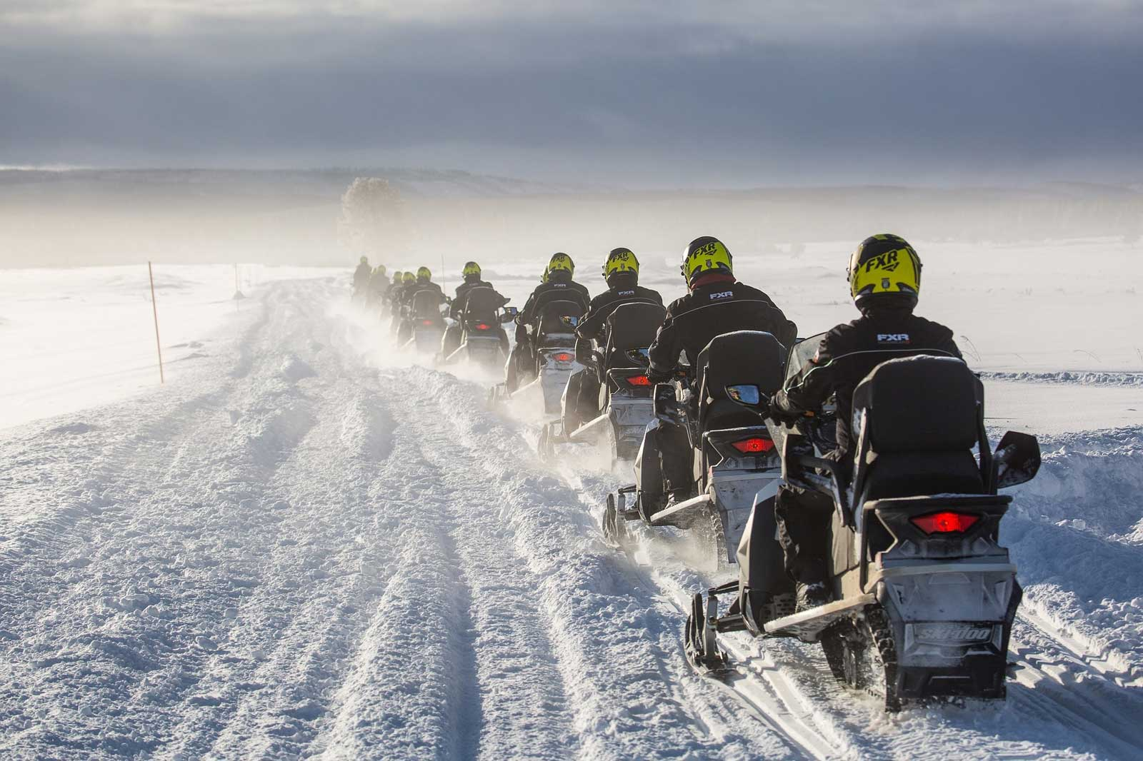 Snowmobilers on Manitoulin (Photo:  Expositor )