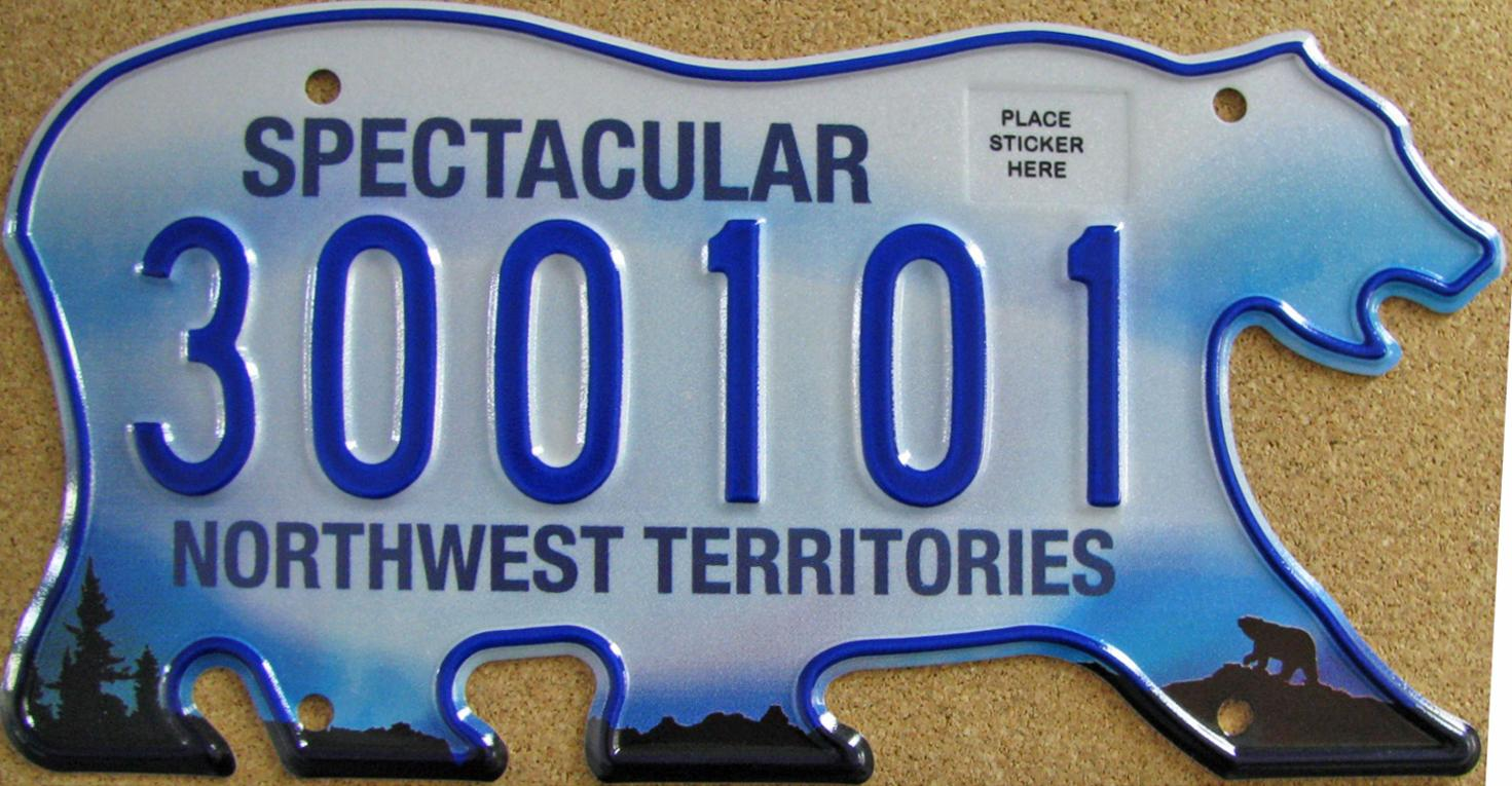 2011 Northwest Territories license plate (Photo:  hobbydb )