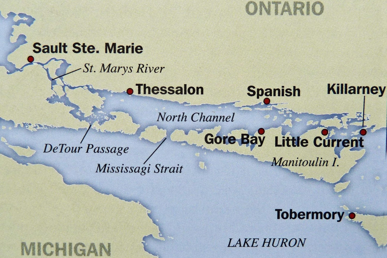 Map of North Channel (Photo:  Last Dance )