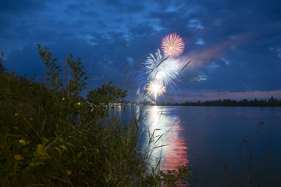 Haweater fireworks display (Photo:  The Expositor )