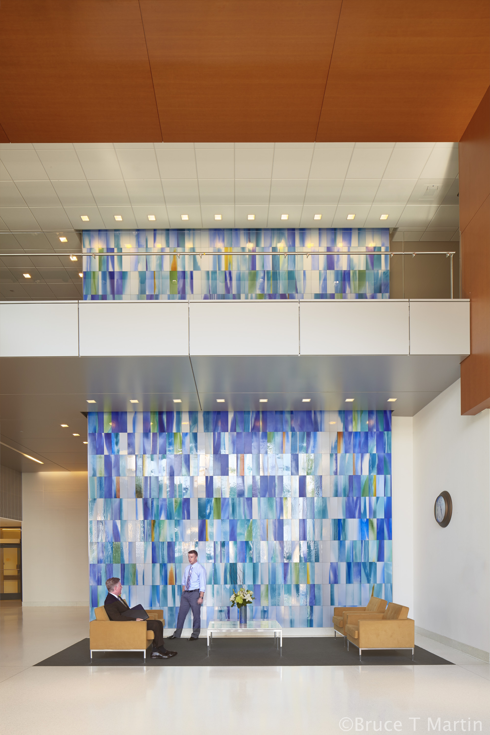 WATER WALK | Hand-Blown Sheet Glass WITH VITREOUS PAINT LAMINATED TO MIRROR