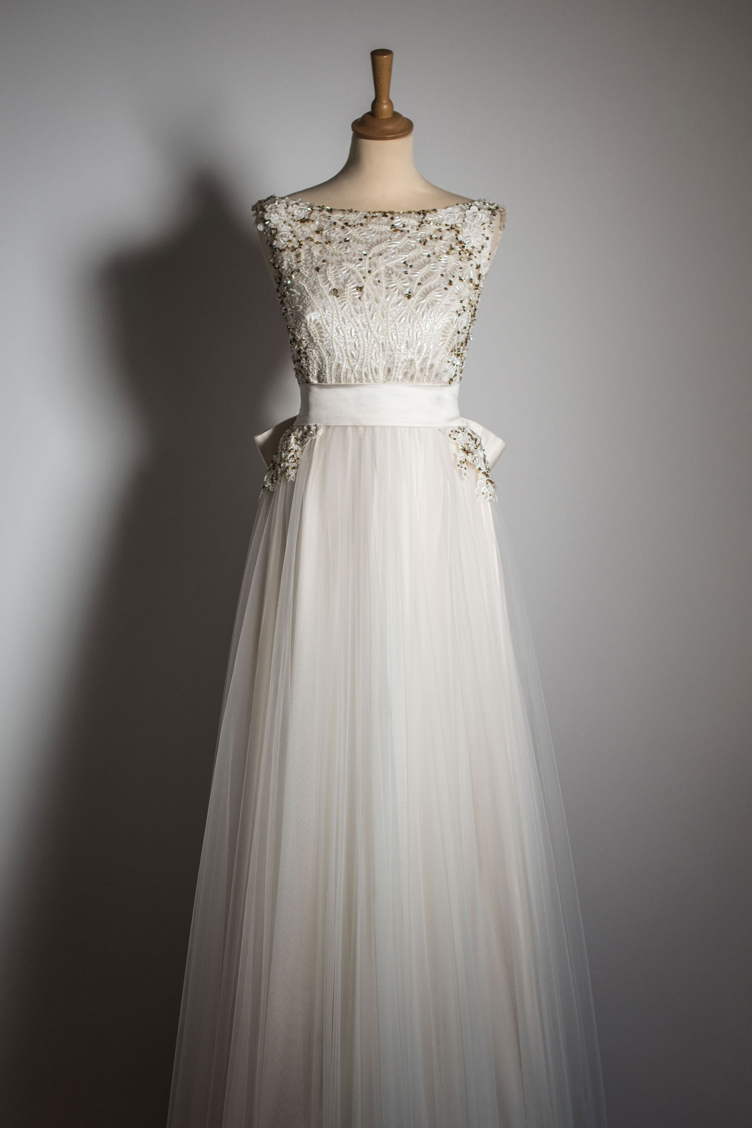 The wedding dress front