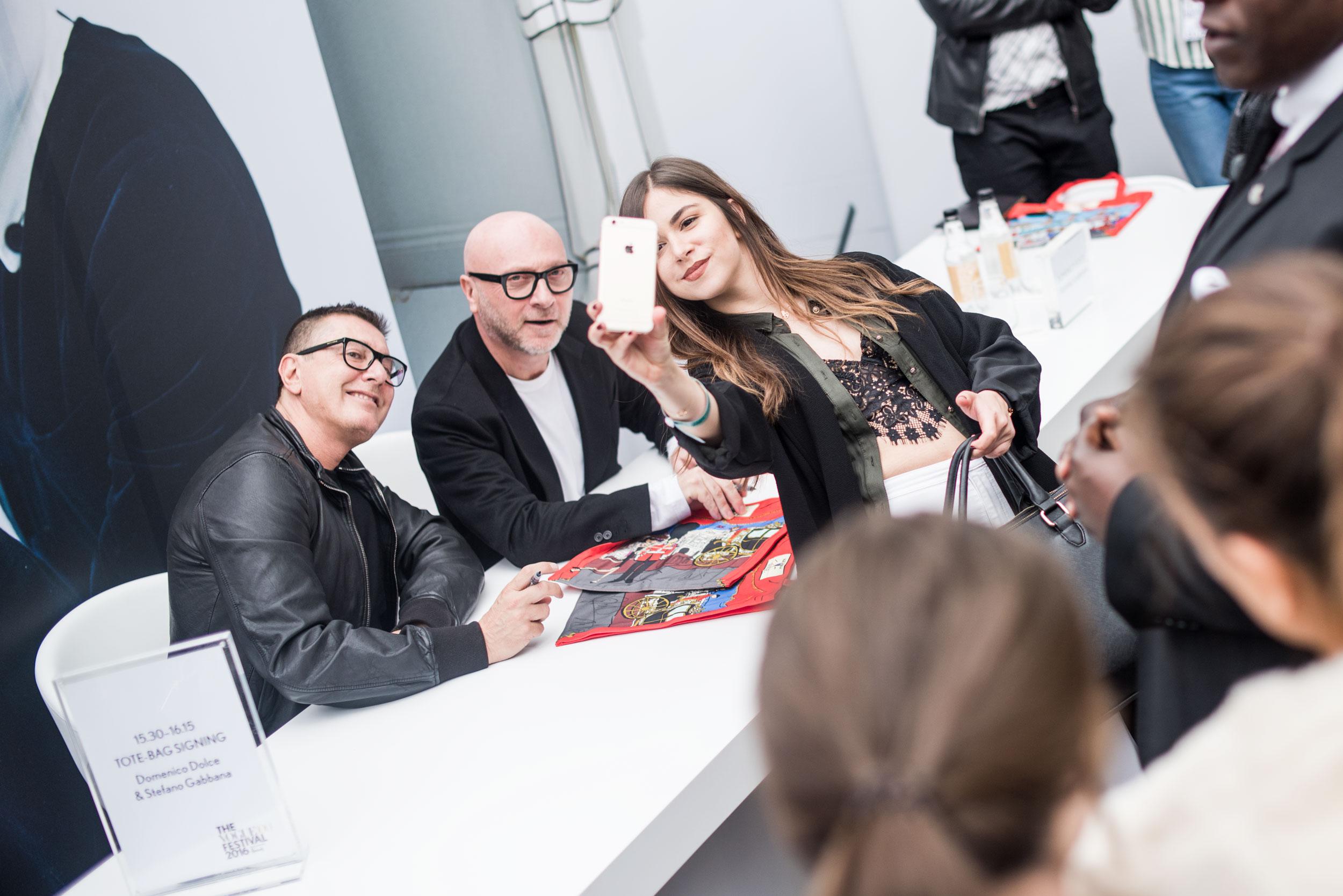 Domenico Dolce and Stefano Gabbana at Vogue Festival 2016
