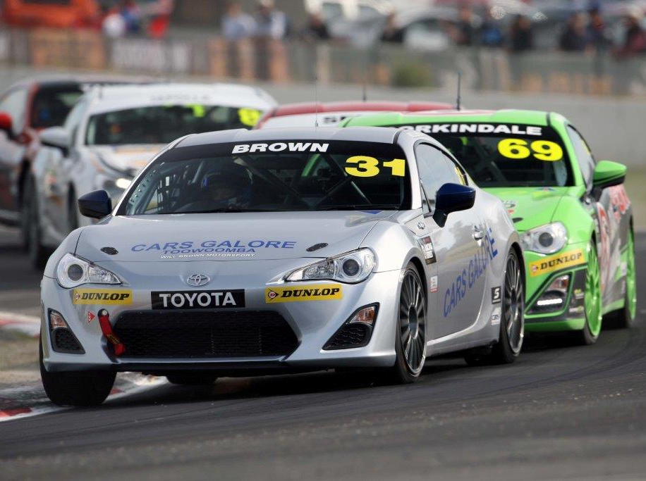 Will Brown is seen competing in the 2016 Toyota 86 Series