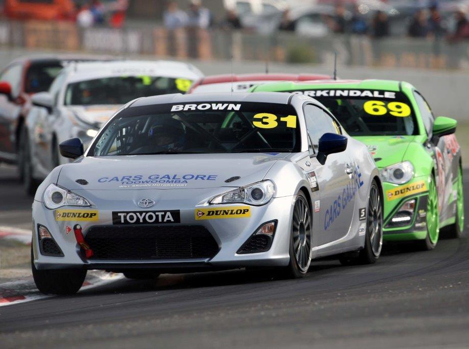 Cars Galore driver Will Brown is seen competing in the Toyota 86 Series at Winton