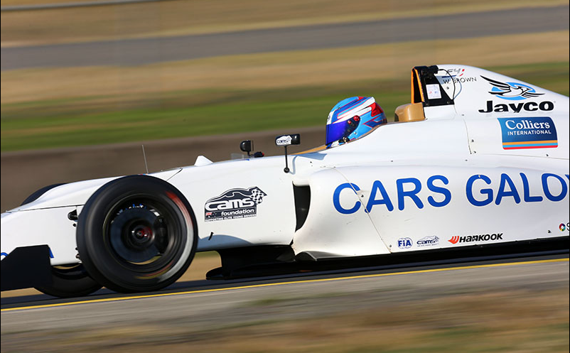 Will Brown is seen competing in the F4 championships for AGI Sport in 2015