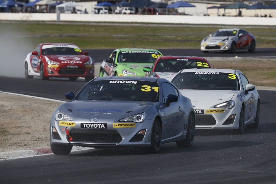 Will Brown is seen competing in his Toyota 86