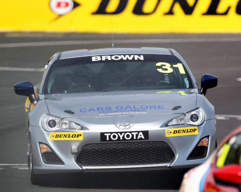Will Brown is seen in his Toyota 86 at Bathurst