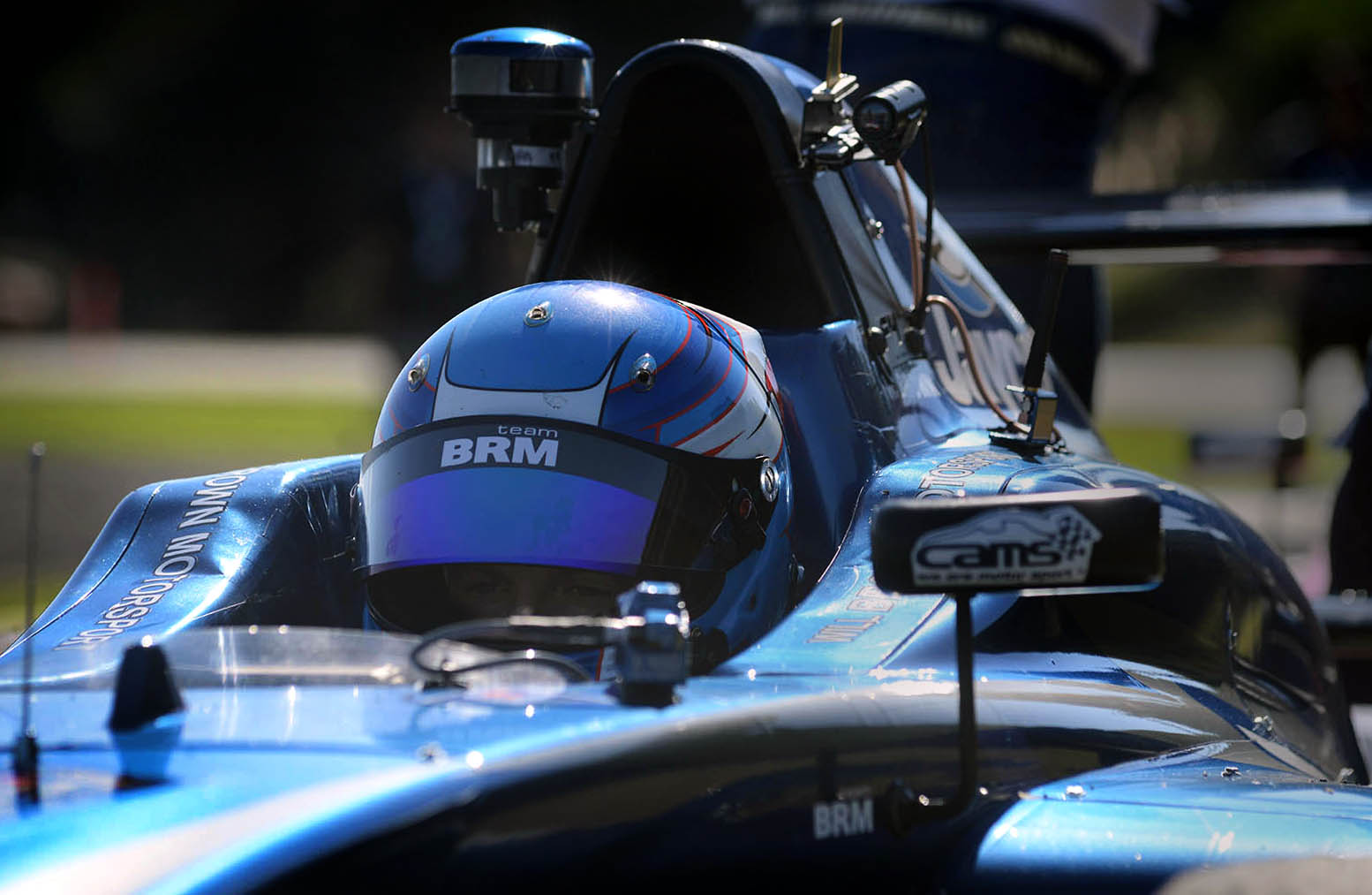 Will Brown is seen in his F4 championship winning car