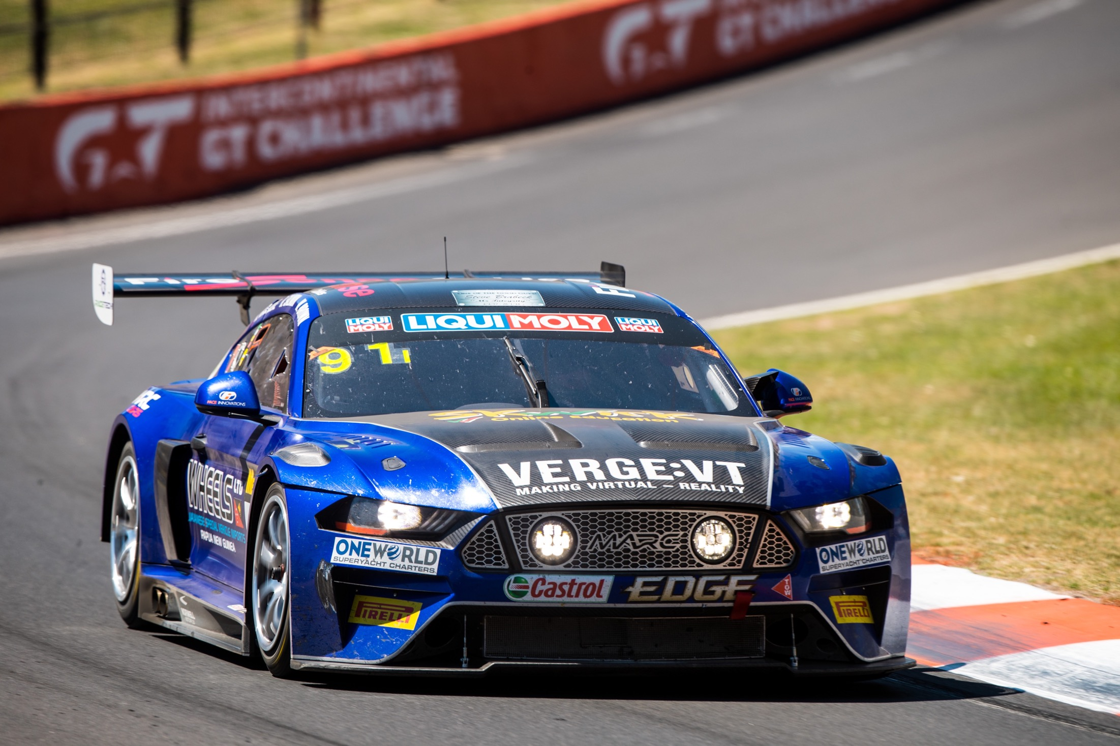 Will Brown is seen in the MARC II Mustang during the 2018 Luiqi Molly Bathurst 12 Hr