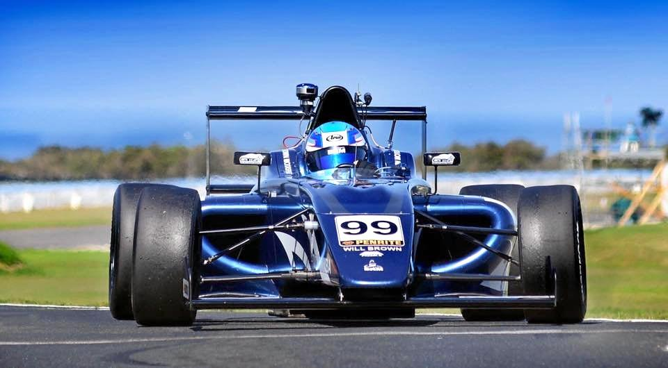 Will Brown is seen in his Champiopnship winning F4 car at Phillip Island
