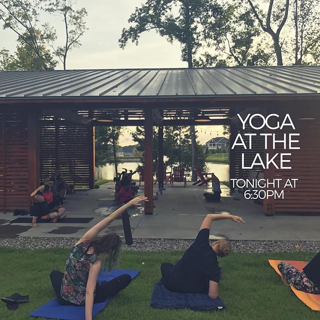Get your stretch on with us! 🧘‍♀️🧘‍♂️ $5 per class at the Lake Pavilion  #yoga #stretch #namaste