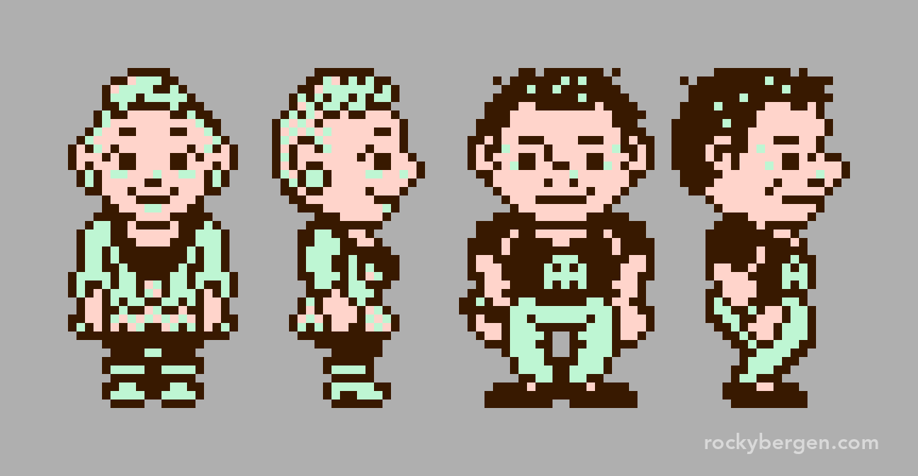 Trying to distinguish feminine from masculine in 8-bits is a challenge.