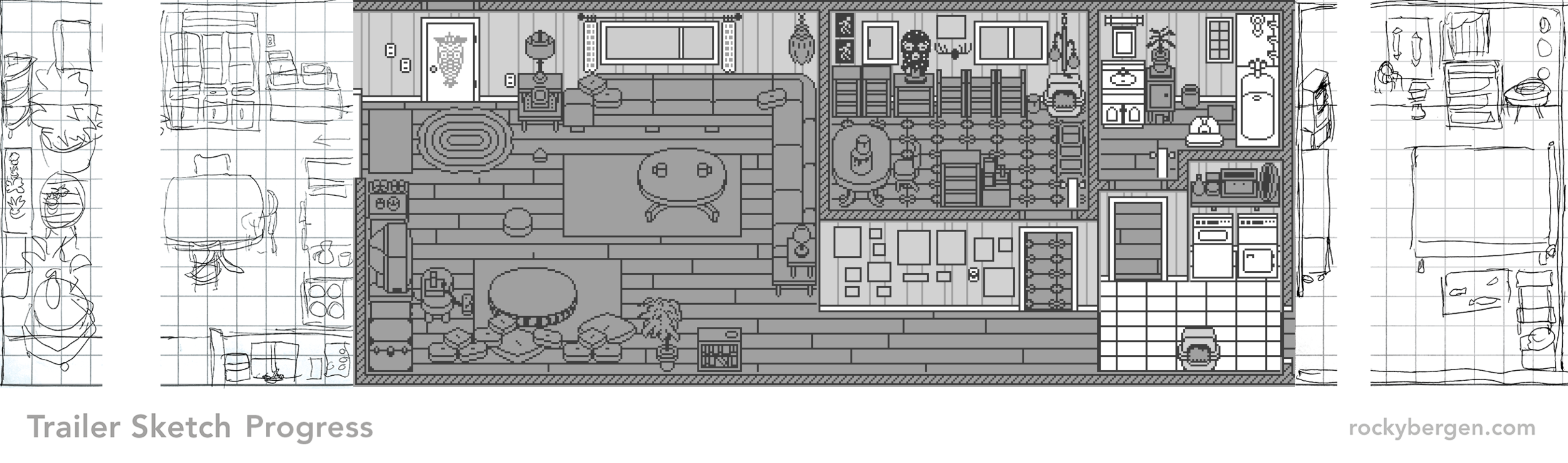 "The final two rooms are smaller than the ""first two"" but are both full of interesting details so I will avoid the impulse to start rushing. This is a labour of love!"