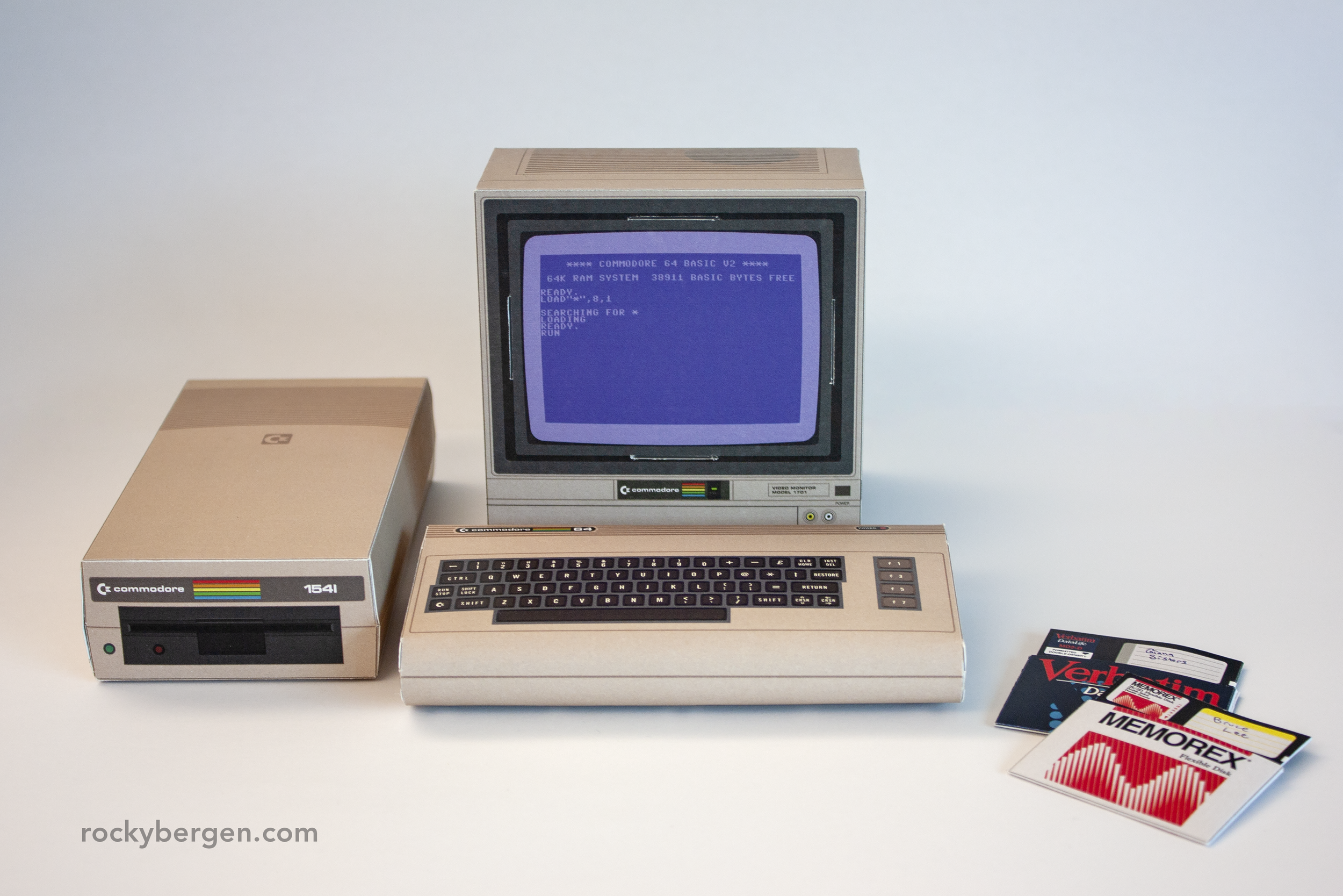 The Commodore 1541 disk drive proudly joins the Commodore 64 papercraft series.