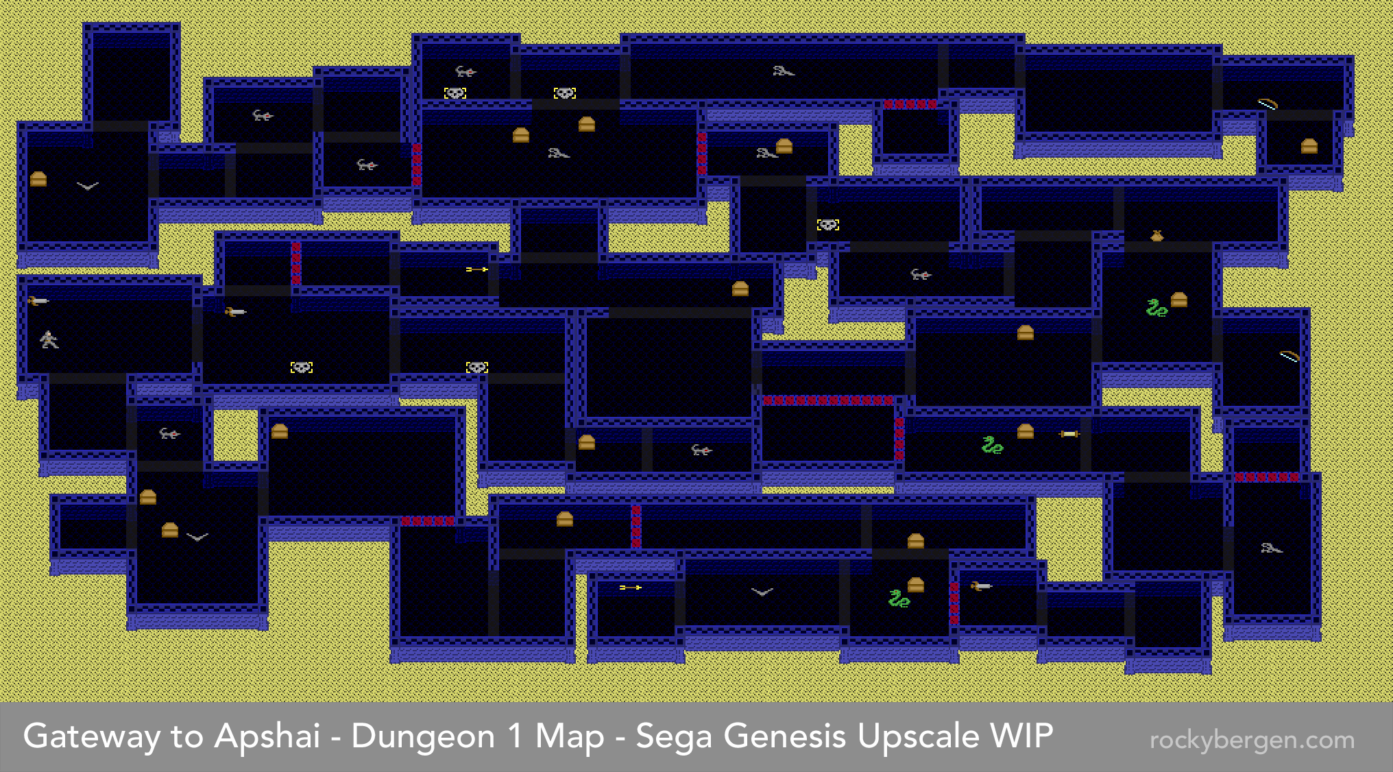Dungeon Map.