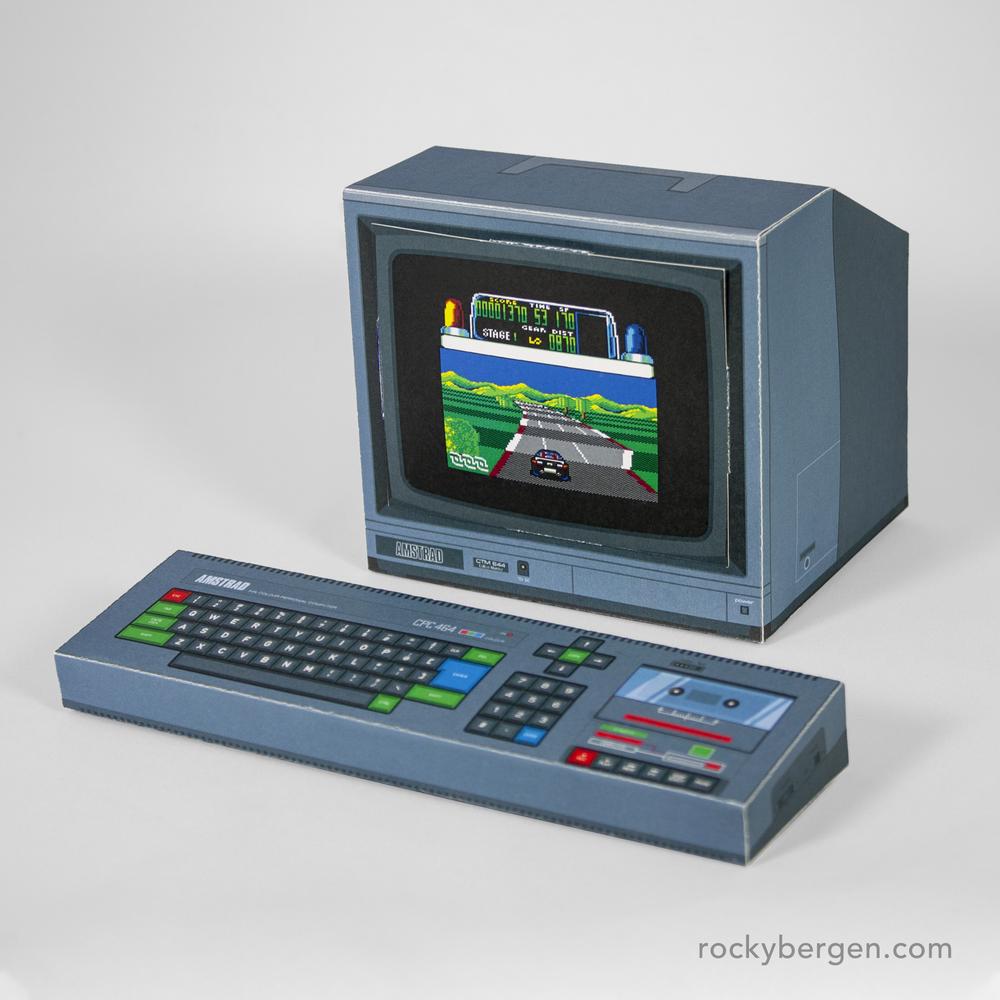 Amstrad CPC 464. Imagen: Rocky Bergen, http://rockybergen.com/