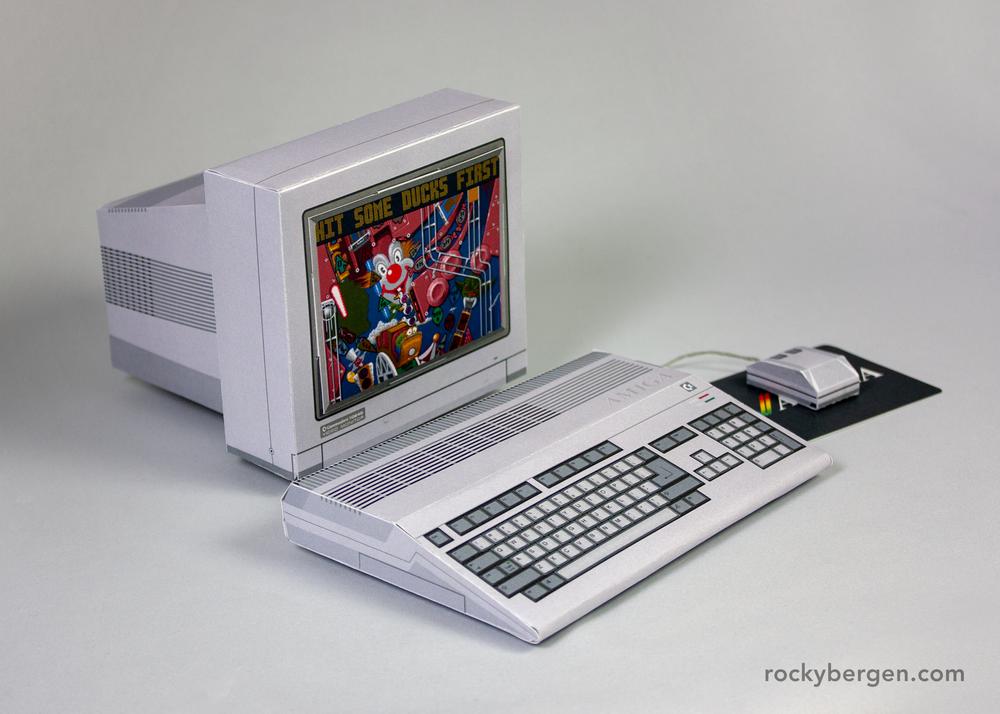 Commodore Amiga 500. Imagen: Rocky Bergen, http://rockybergen.com/