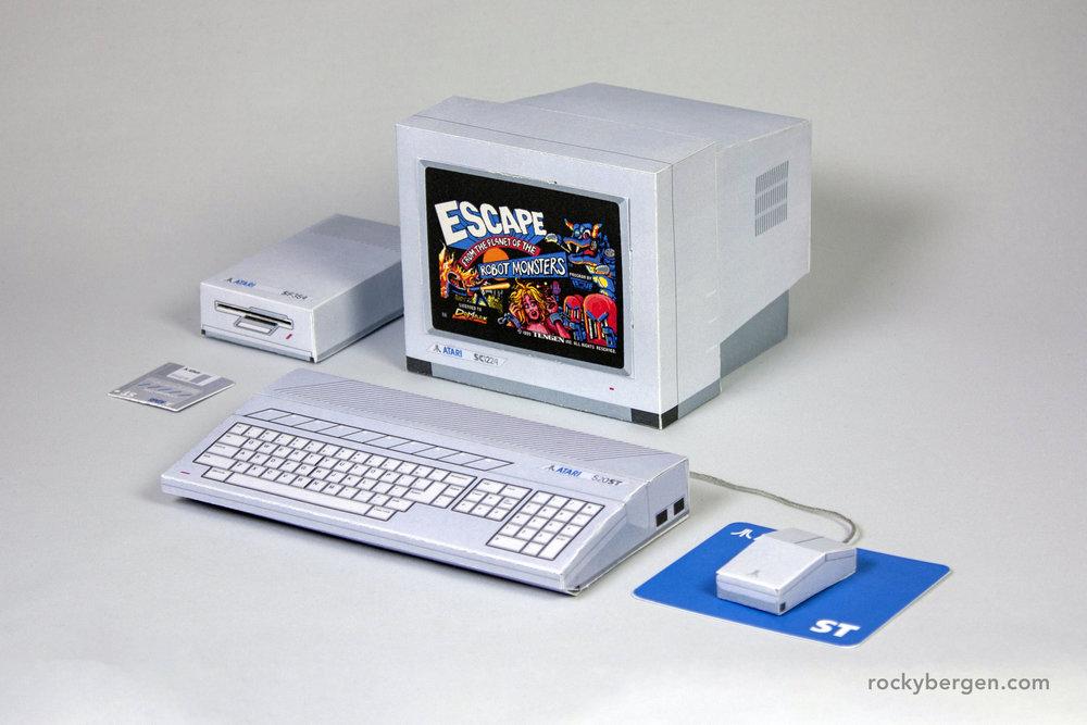 Atari ST. Imagen: Rocky Bergen, http://rockybergen.com/