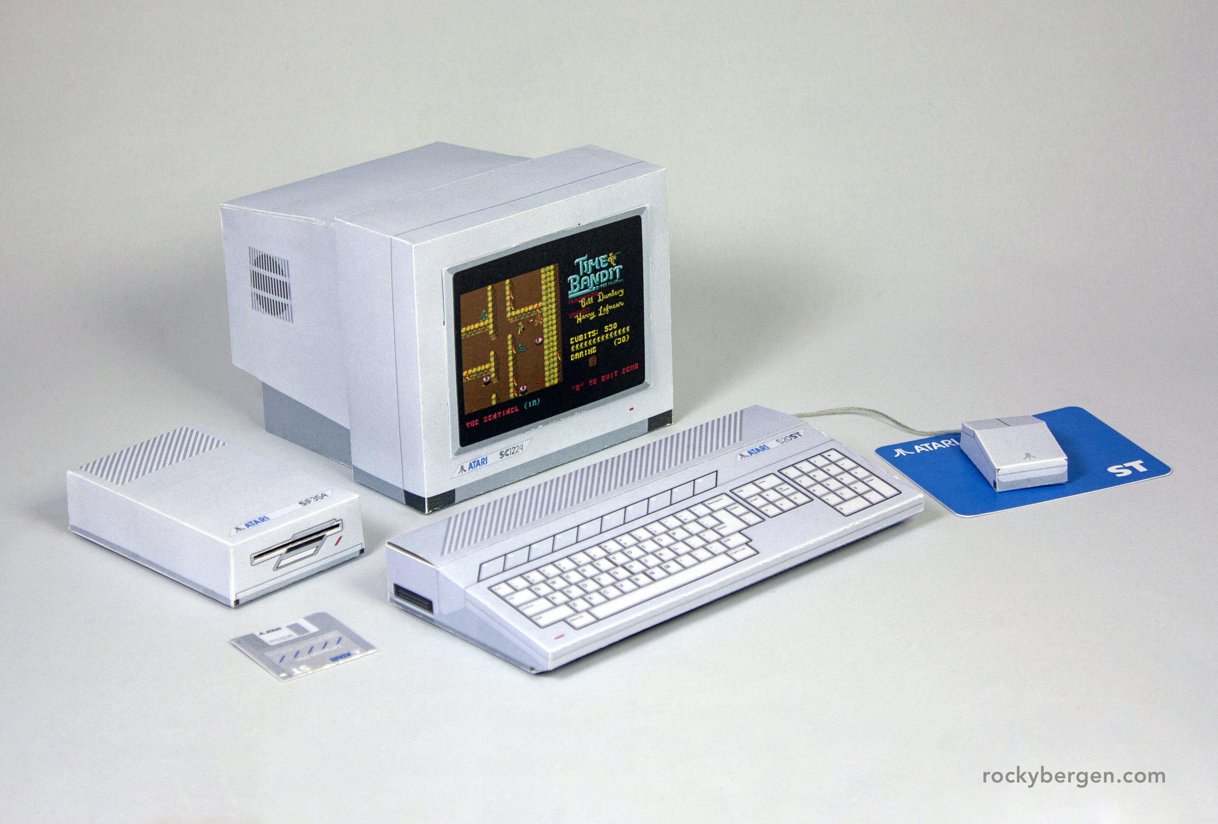 While the computer may lack an internal hard drive, it has a much smaller footprint than it's Amiga 500 counterpart.