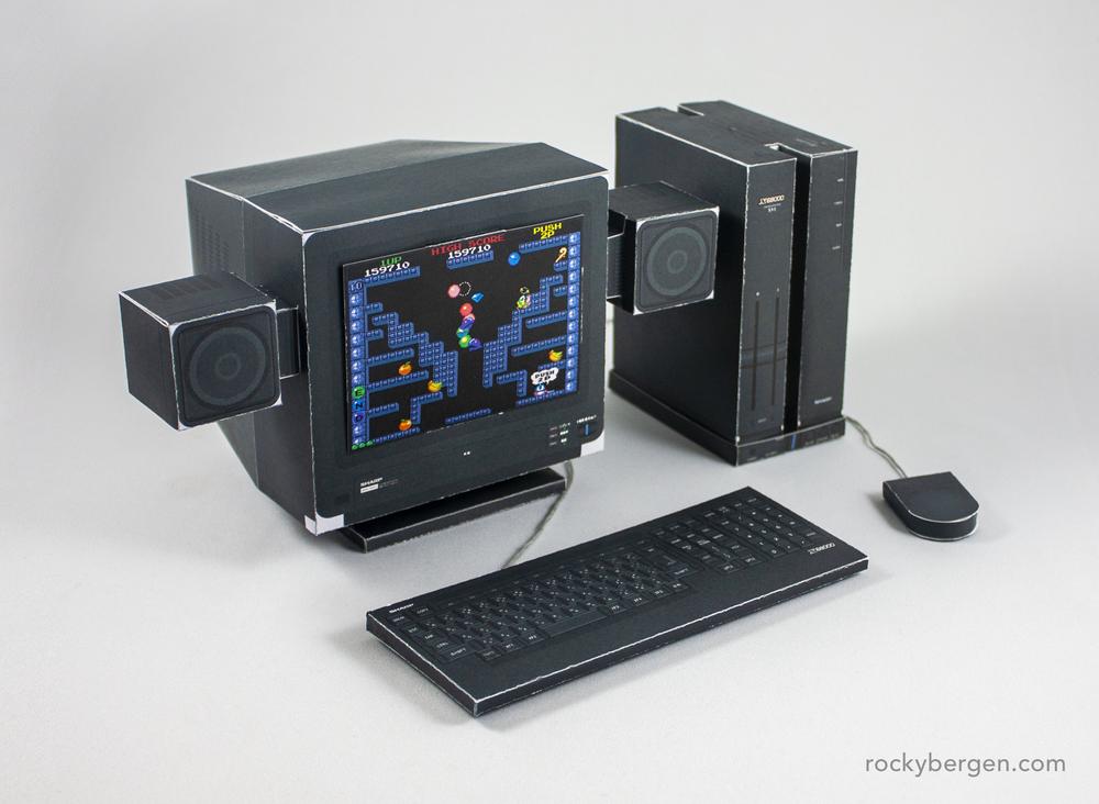 Sharp X68000. Imagen: Rocky Bergen, http://rockybergen.com/