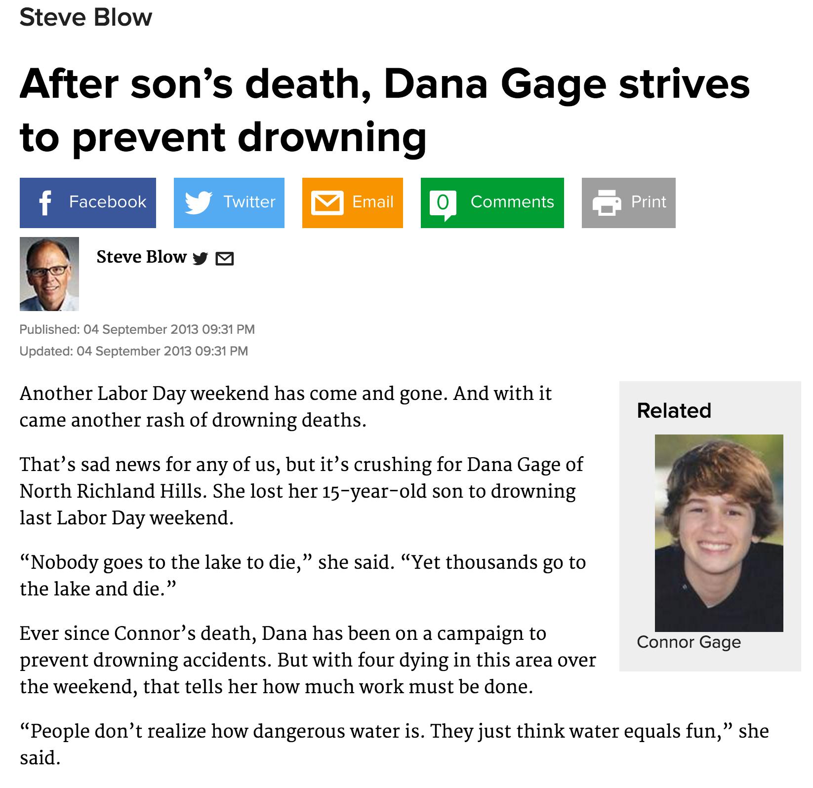 Dallas Morning News, September 2013