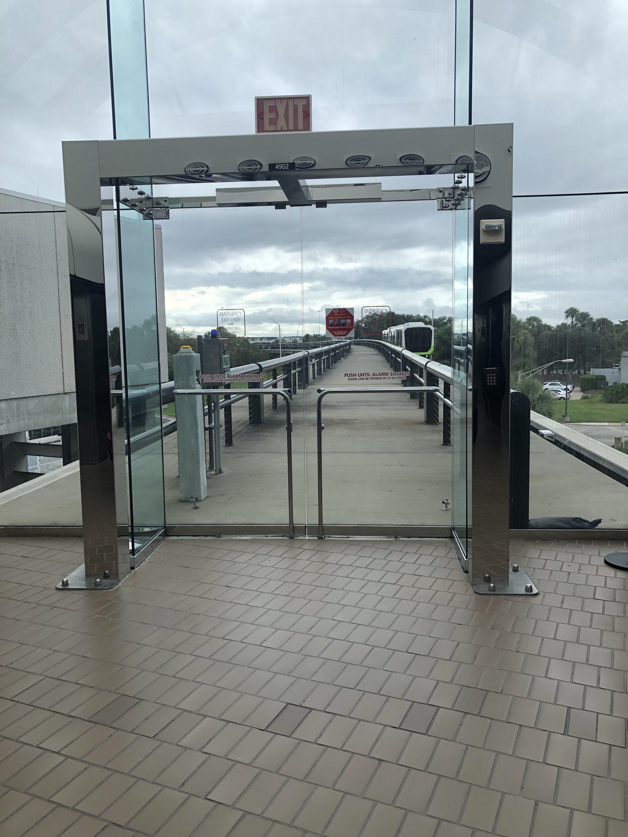 The tram at Orlando International Airport