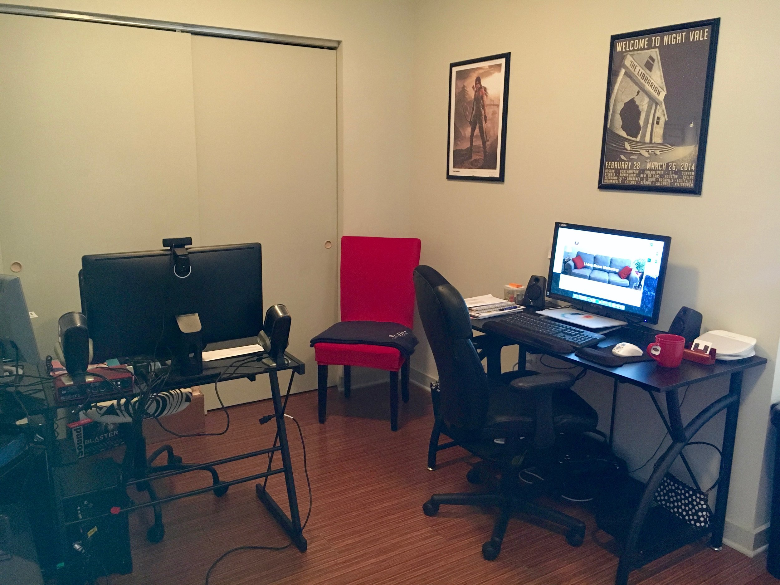 Welcome to the Living Room Marketing home office.