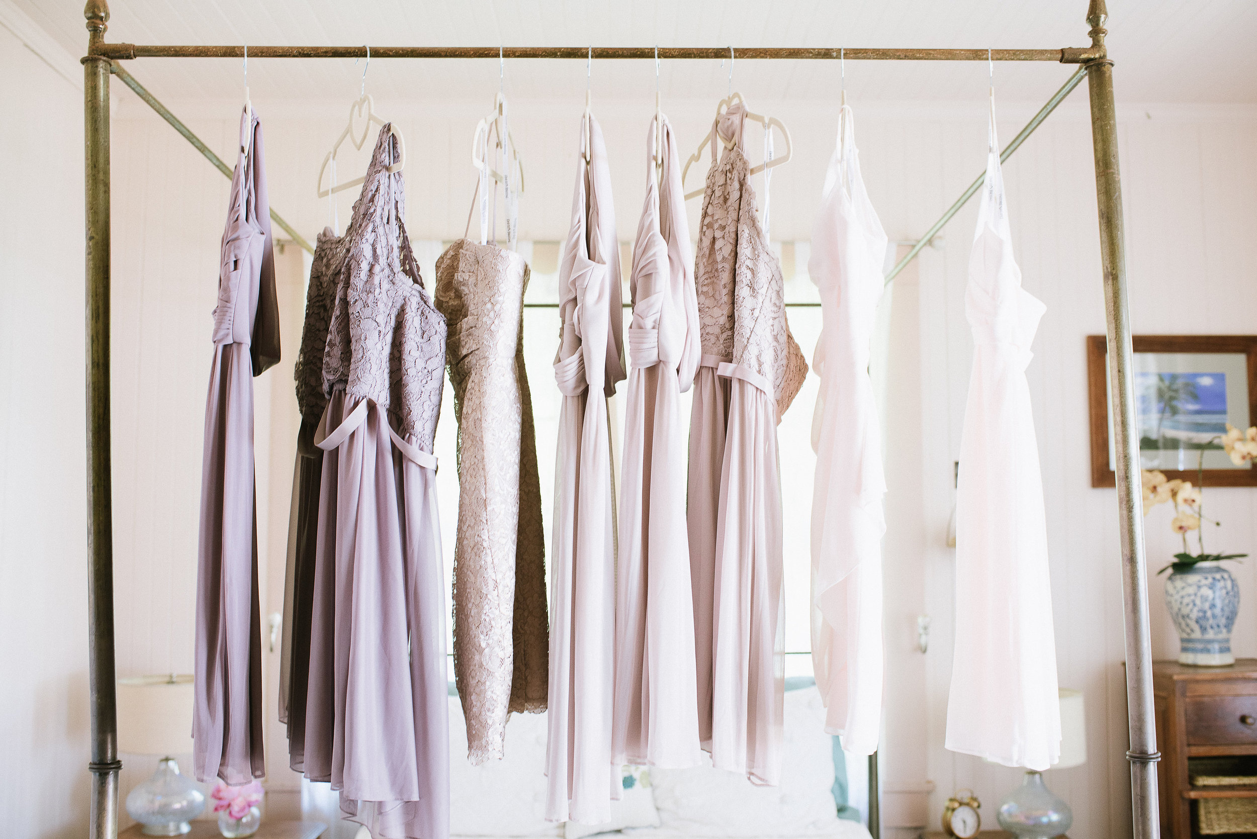 blush and neutral bridesmaid dresses