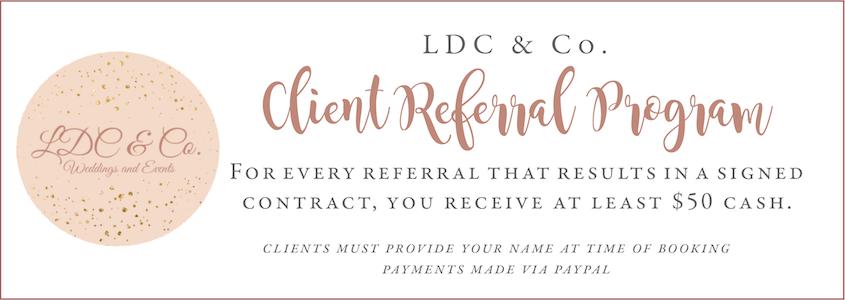 LDC Bride Referral Program