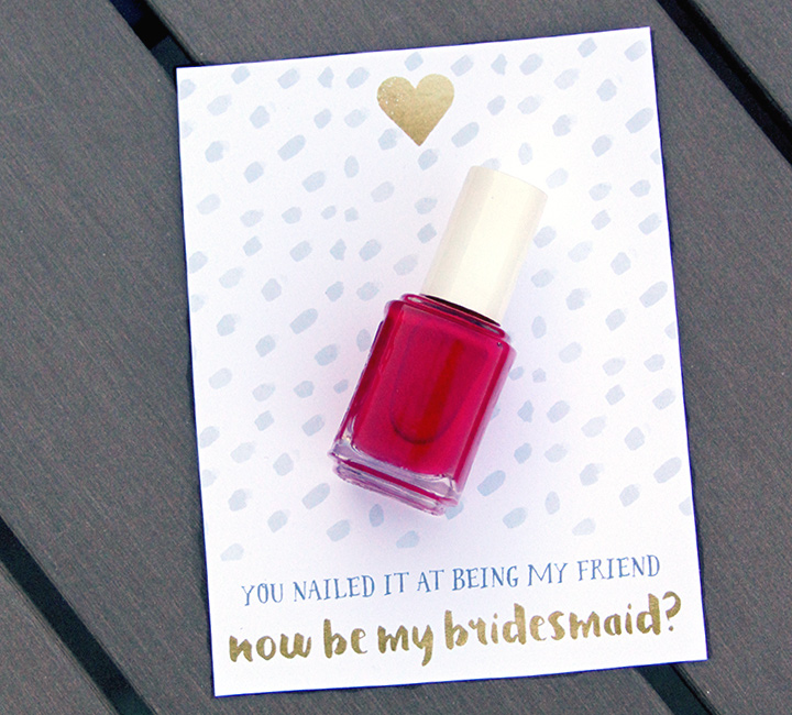nail polish bridal party proposal