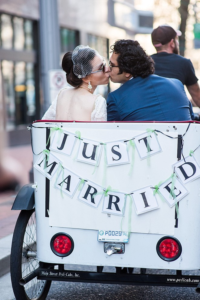 just married pedicab tour