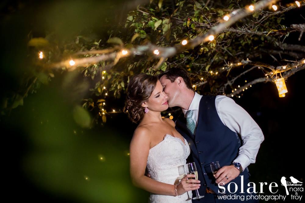 tree lights vt wedding