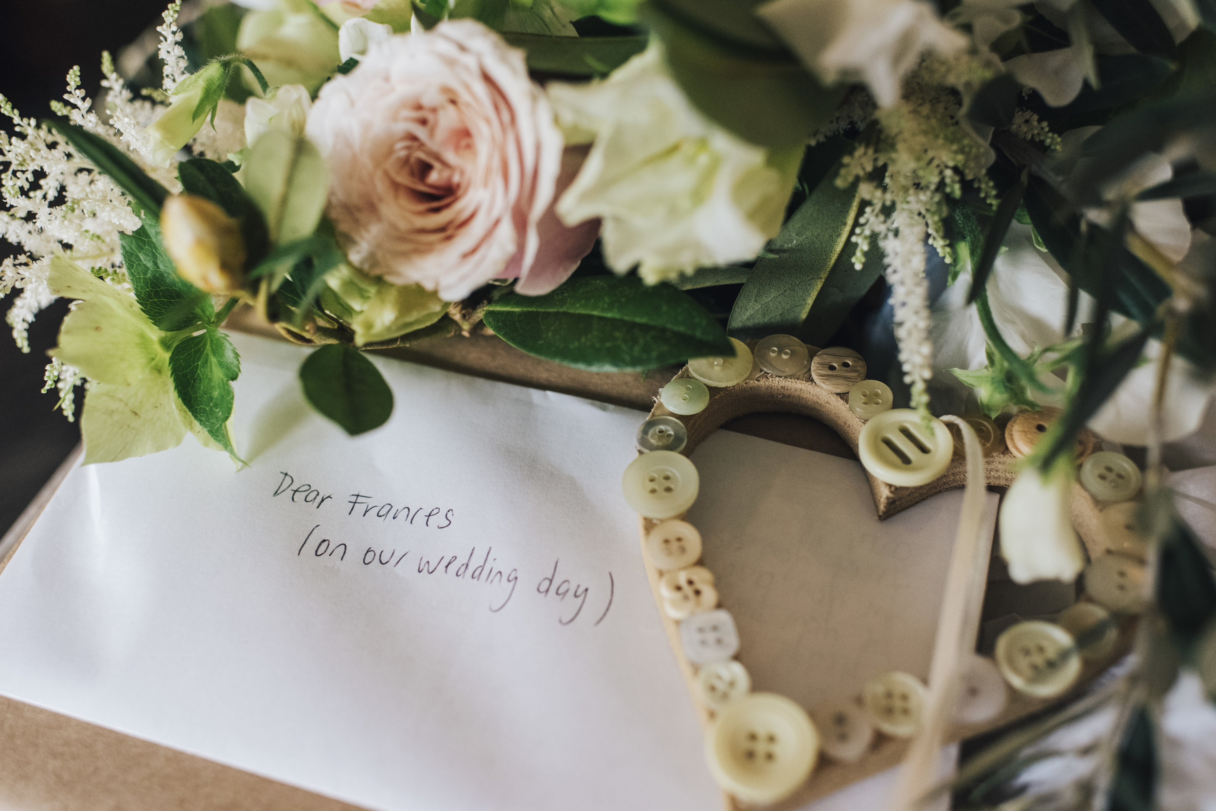 Bride Details and love note