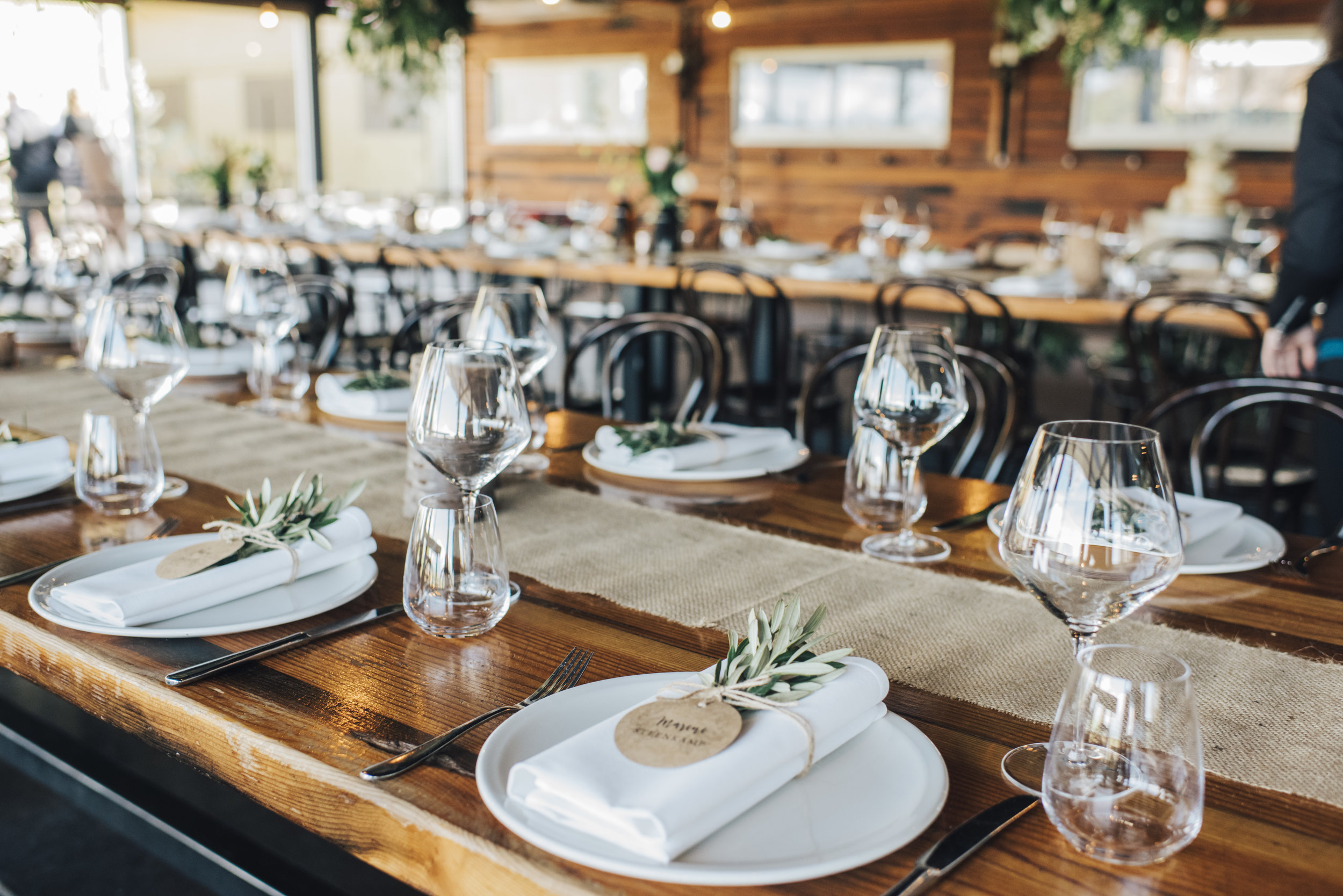 long table vineyard wedding