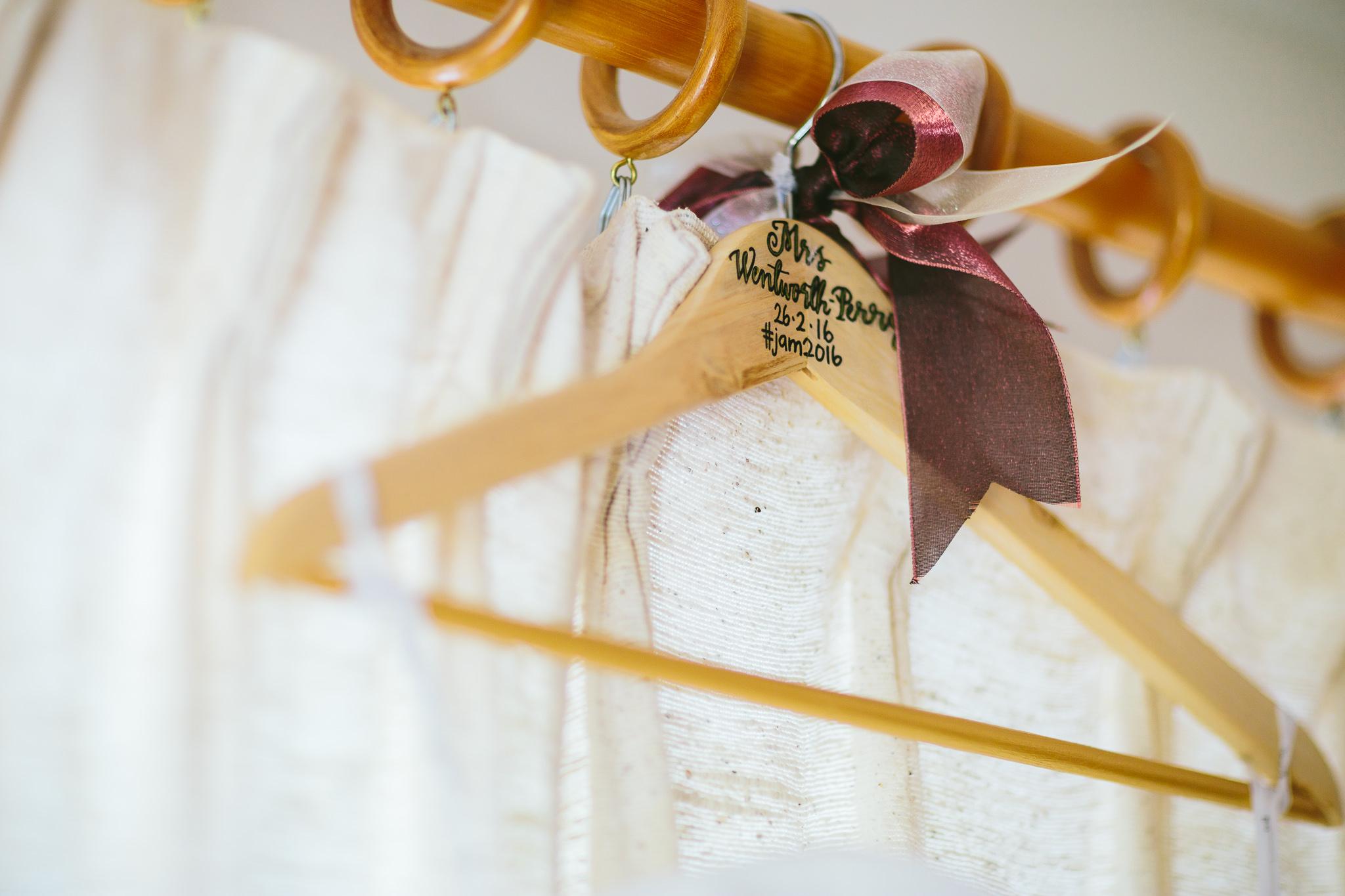 Berry Color Wedding Dress Hanger