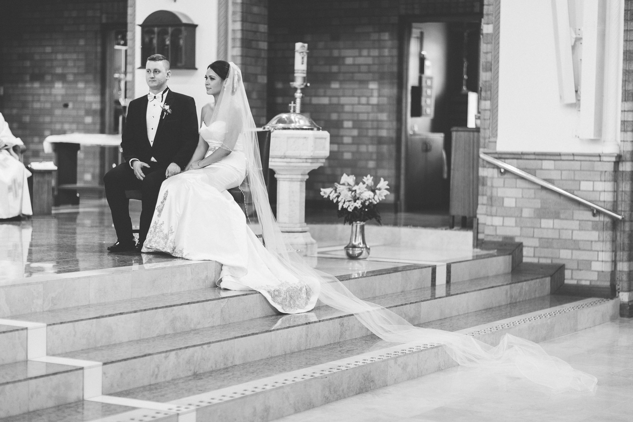4 meter long veil in St Christopher's Cathedral Canberra