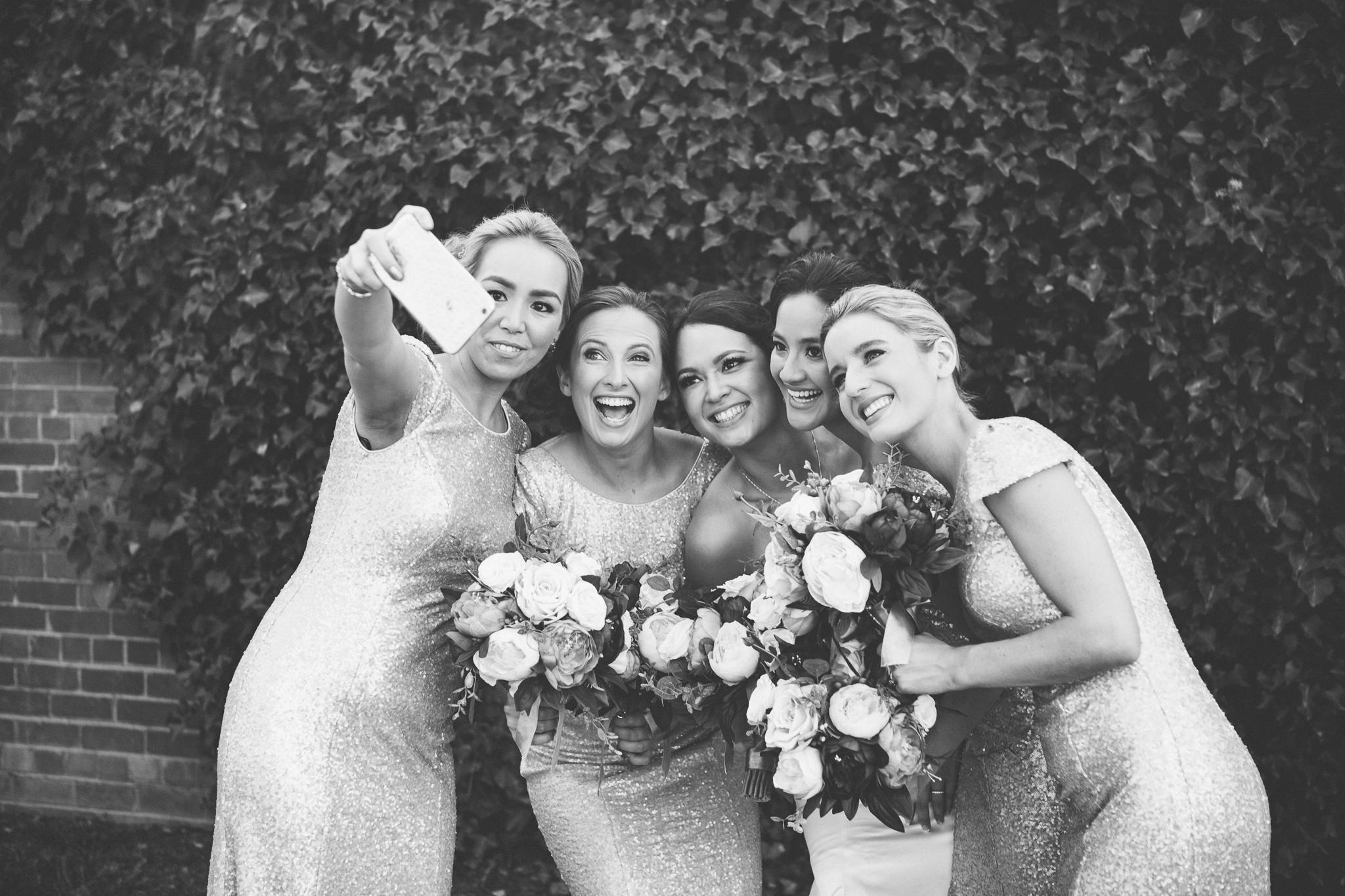 But first let's take a selfie on wedding day