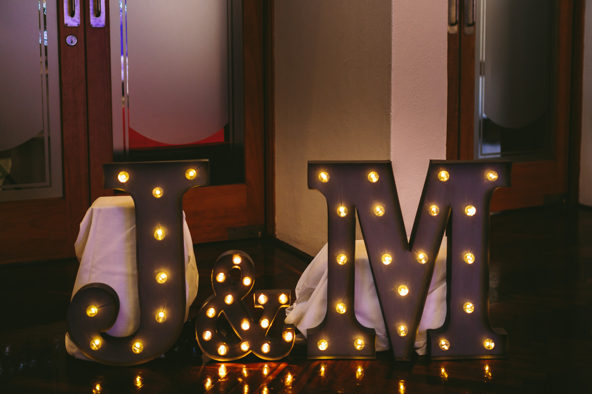 Maquee Initial Lights Wedding Day